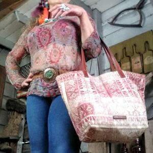 Lucky Brand top and tote